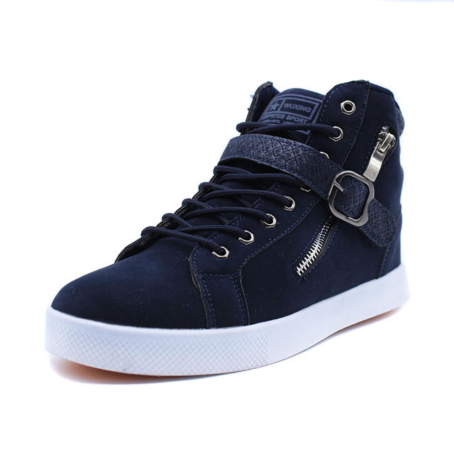 Trend Fashion Men High top Board shoes Male Footwear Comfortable Warm Autumn Winter Ankle Casual shoes Wear resistant sole Suede