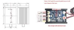 Image 4 - 500mw 405NM青紫色レーザーモジュール彫刻、ttl pwm制御管ダイオード + ゴーグル