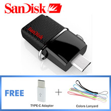 SanDisk USB 3.0 USB Flash Drive Ultra Dual OTG SDDD2 130MB/S 16GB 32GB 64GB 128GB Mini Usb Flash Drive Memory Stick Original
