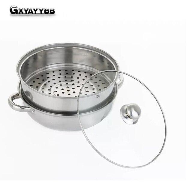 Gxyayybb Memasak Panci Panci Dapur Satu Bawah Induksi Gas Universal Boiler Minuman Peralatan Masak Pegangan Double Pan Universal