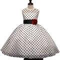 Nuevo 2017 Verano Vestido de La Muchacha Clásica Polka Dots Baby Girl Vestidos Del Tutú de Princesa Fiesta de Cumpleaños de Los Niños Vestidos de Ropa de La Muchacha