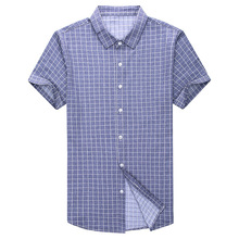 British Style Short Sleeve Plaid Shirt 2019 Summer Fashion Leisure Formal Shirts For Men Clothing Cotton Blend Camisa Masculina