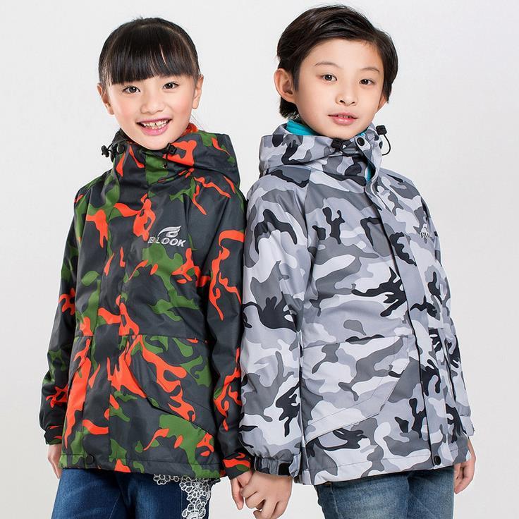 juventud nio chico y una chica caliente chaqueta de invierno impermeable chaqueta senderismo acampar al aire libre deportes cha