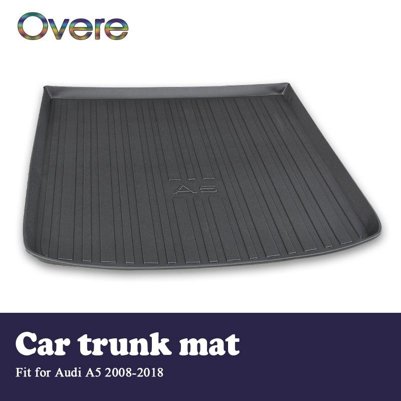 Overe 1Set Car Cargo rear trunk mat For Audi A5 B8 B9 2008 2009 2010 2011 2012 2013 2014 2015 2016 2017 2018 Anti slip mat