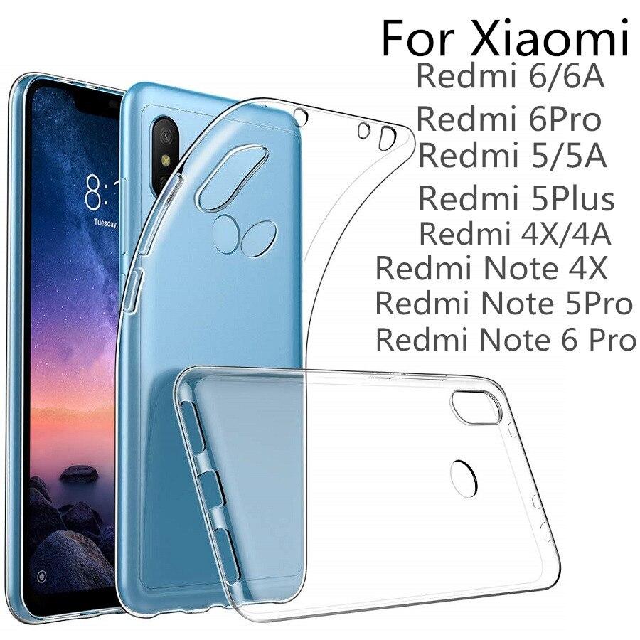 VSKEY 100 pièces TPU étui de téléphone pour xiaomi Redmi Note 6 Pro 5A 4X 4A 6A Haute Clair clair Ultra Mince Transparente Souple Couverture En Silicone