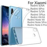 VSKEY 100PCS TPU Phone Case For Xiaomi Redmi Note 6 Pro 5A 4X 4A 6A High Bright Clear Ultra Thin Soft Transparent Silicone Cover