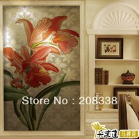 crystal mosaic tile puzzle entranceway background wall mural mosaic