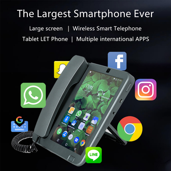Smart LTE WiFi Wireless Fixed landline 8inches 4G SIM Phone Android 6.0 videophone glob universal video Remote Control Phone