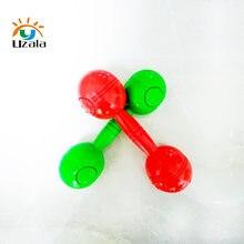 Multi cor berçário, instrumentos de haltere, brinquedos infantis, exercício, voz haltere exercício e fitness W4-123-P