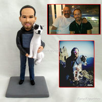 personalized gifts for father gift boyfriend Personalized Date Name Wedding Cake Topper Groom and Bride Action Figures clay doll