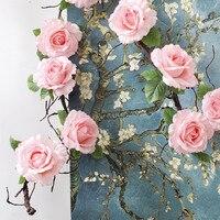 大きなバラシルクつる装飾フェイクガーランドホーム壁パーティー結婚式の装飾partificial花用装飾人工フルール
