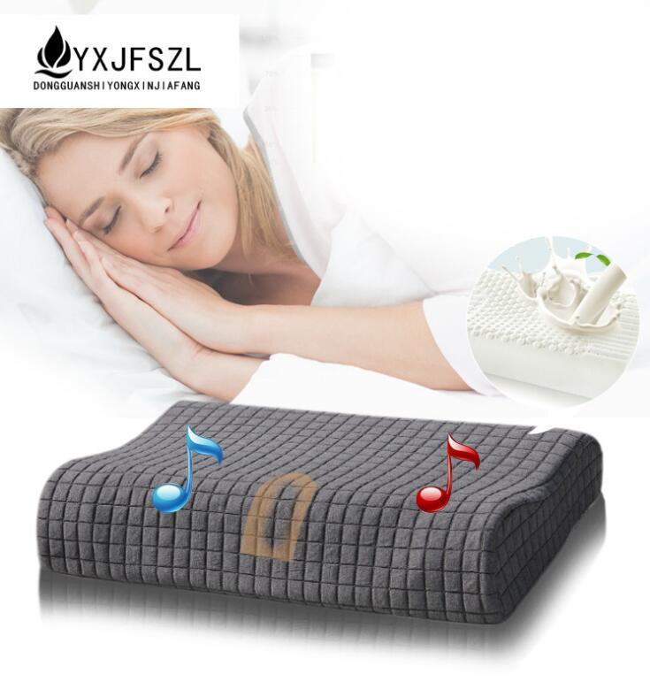 YXJFSZL New Natural Latex Music Massage Pillow, Cervical Vertebra Pillow bebeconfort 30000709 2 sucettes natural physio latex t3 3 coloris