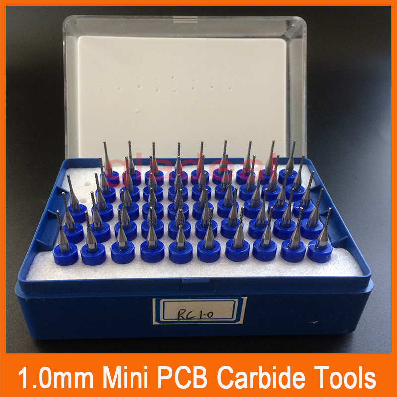 1.0mm Mini PCB Carbide Tools Millinging Cutters Kit for <font><b>phone</b></font> <font><b>motherboard</b></font> Grinding Machine Engraving Milling Machine