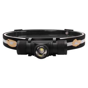 Image 5 - BORUiT D20 XPG LED كشافات قوية 4 وضع التكبير 1000LM العلوي قابلة للشحن 18650 مقاوم للماء رئيس الشعلة للتخييم الصيد