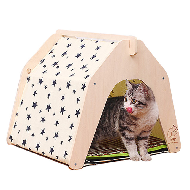 Star Printing Ger Design Pet KennelsSummer DIY Wooden Dog or Cat Play Tent Wood  sc 1 st  AliExpress.com : cat play tent - memphite.com