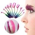 10 unids/set Oval cepillo de Dientes Maquillaje brocha Pinceles Fundación Poder Herramienta Pincel Suave Colorido Maquillaje Sistemas de Cepillo Maquiagem Moda