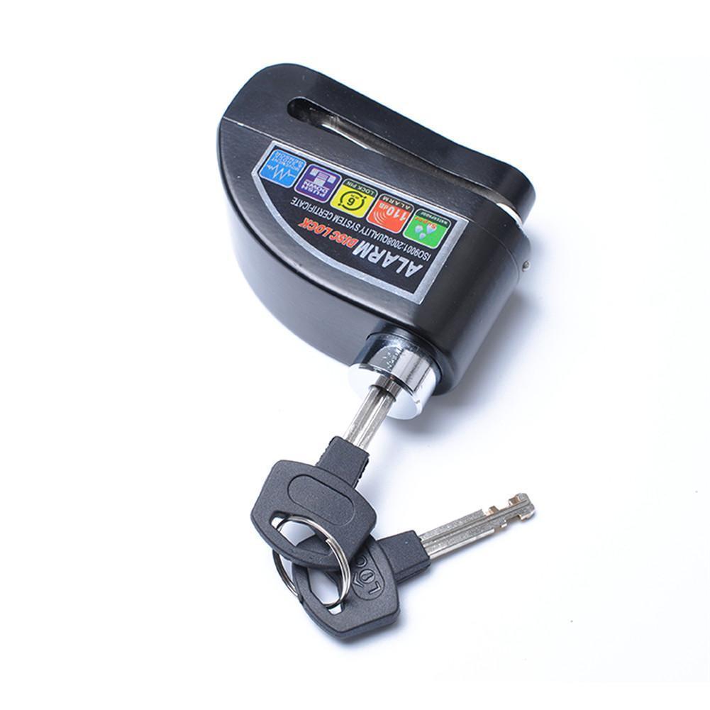 Anti-theft Motorcycle Disc Brake Lock Motorbike Scooter Bicycle Wheel Disc Brake Lock Security Alarm Protection