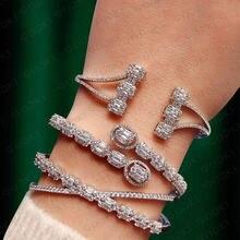 Модный Роскошный Штабелируемый браслет godki для женщин свадебный