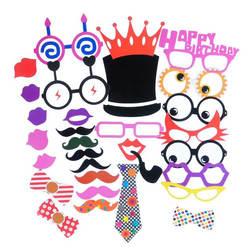 AVEBIEN Photo Booth Baby Shower День рождения DIY Photo Booth Реквизит вечерние Творческий Смешные Бумага борода забавные очки реквизит для фотосессии