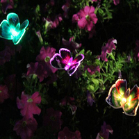 solar lights for garden decoration LED Solar Landscape Path Light Outdoor Butterfly Lawn Lamps Waterproof Garden Camping Lamp