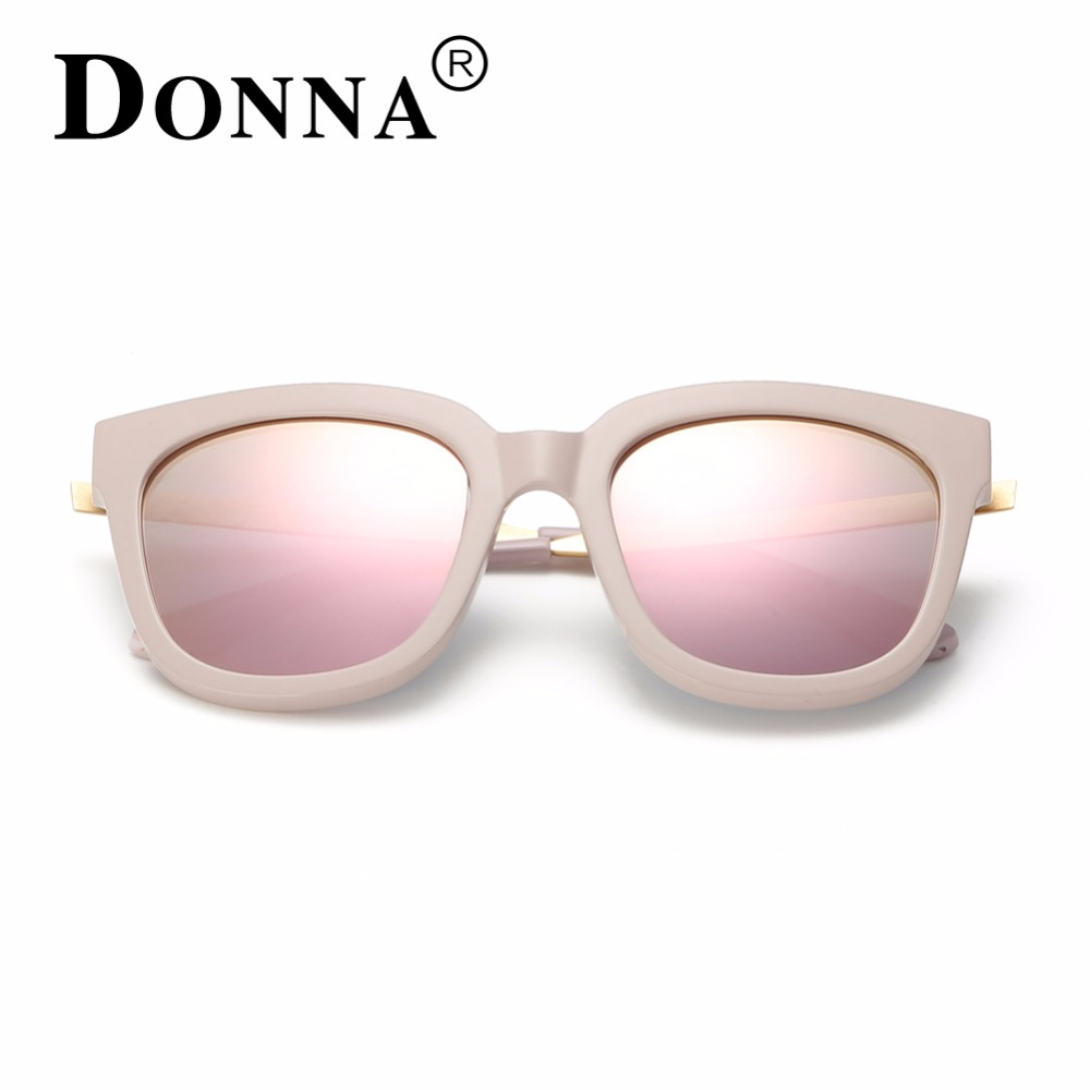 955792d3eb74d Donna Sunglasses Polarized Women Square Mirrored Plastic Frames Sun Glasses  Woman Eyeglasses Oversizded D08-in Sunglasses from Apparel Accessories on  ...
