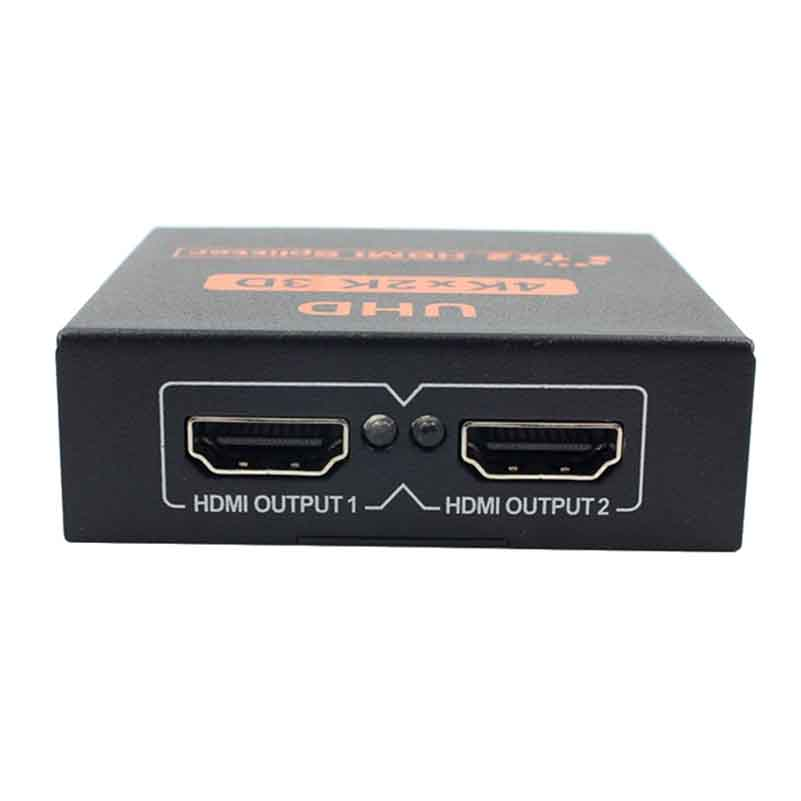 Image 3 - 1X2 HDMI Splitter 2 Port Hub Repeater Amplifier for HDTV 3D 4K * 2K Full HD 1080p-in Computer Cables & Connectors from Computer & Office