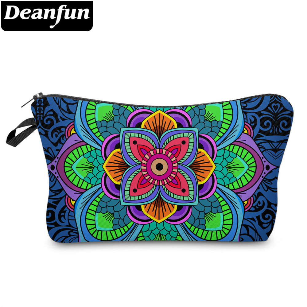 Deanfun Cosmetic Bags 3D Printed Colorful Datura Flowers Fashion For Women Travelling Storage 51295