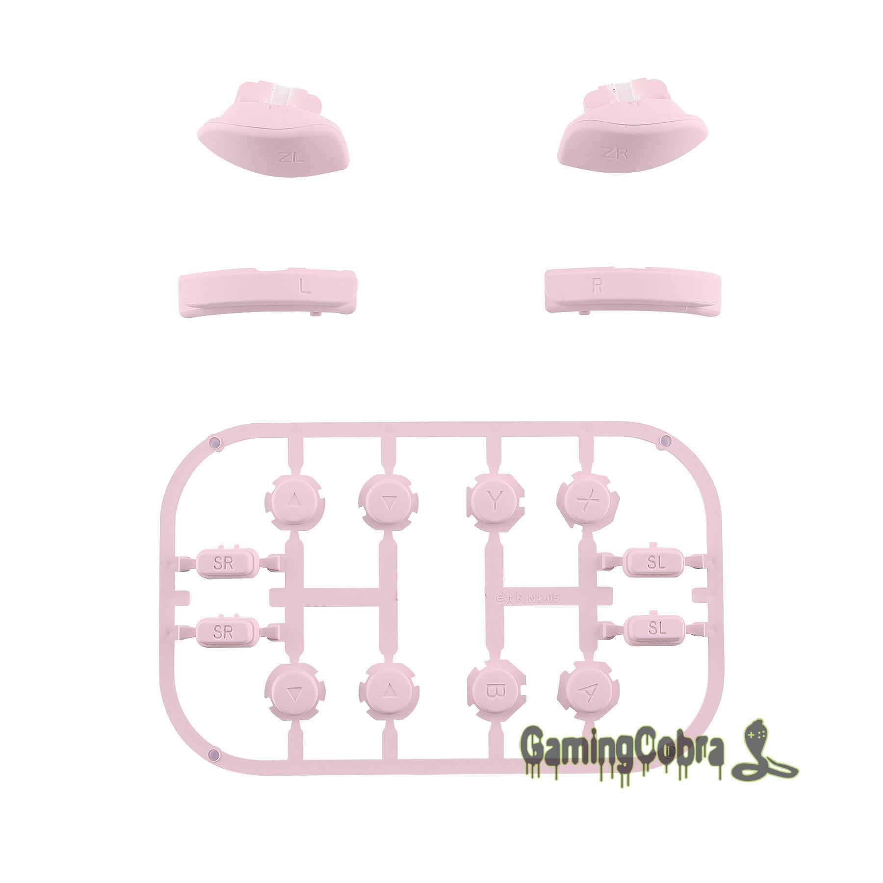 Мягкий сенсорный Сакура розовый Замена ключей направления ABXY SR SL L R ZR ZL триггер полный набор кнопок w/инструменты для nintendo Switch Joy