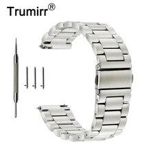 Correa de reloj de acero inoxidable de 18mm, 20mm, 22mm, 23mm y 24mm para correa de reloj Orient, correa de apertura rápida, pulsera de cinturón de plata y negro