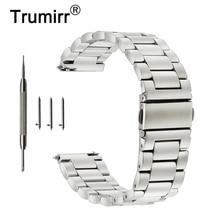 Pulseira de relógio de aço inoxidável, 18mm 20mm 22mm 23mm 24mm pulseira de relógio de aço inoxidável band para oriente pulseira de liberação rápida pulseira de pulso prata e preta