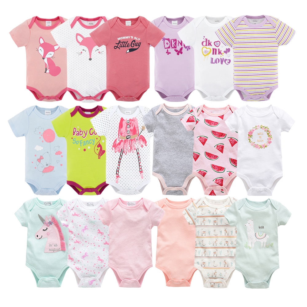 Kavkas 6PCS/lot 2019 summer short sleeve set baby   rompers   baby jumpsuit boy ropa bebe baby boy clothes cute newborn   rompers