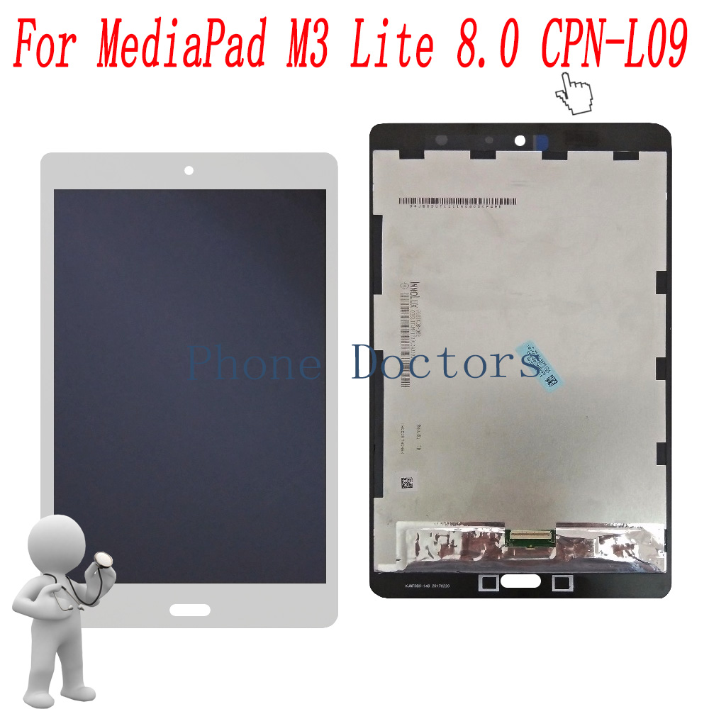 8.0 inch LCD DIsplay + Touch Screen Digitizer Assembly For Huawei MediaPad M3 Lite 8.0 CPN-L09 CPN-W09C CPN-W09B for huawei mediapad m3 lite 8 8 0 cpn w09 cpn al00 cpn l09 lcd display touch screen digitizer assembly