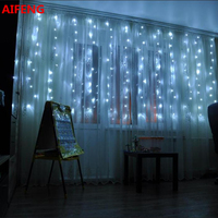 AIFENG Outdoor Waterproof Led Curtain Fairy Light 3 3M 300LED 3 2M 192LED 3 1 5M