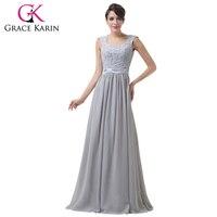 Free Shipping Women Lace Crochet Gray Long Backless Evening Celebrity Dress CL6231