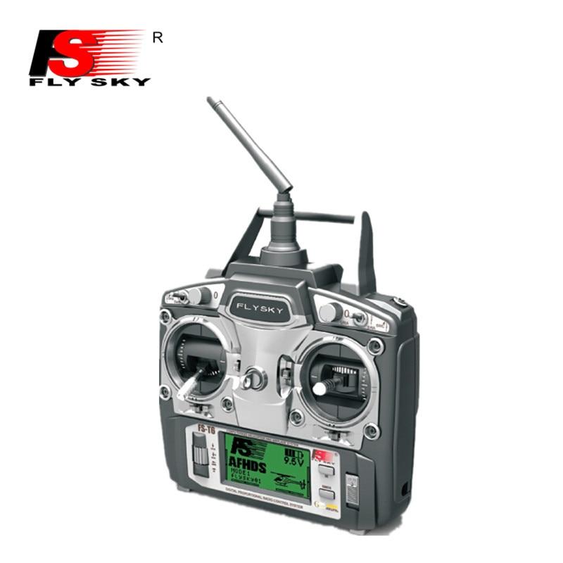 Original Flysky FS-T6 2.4G 6CH Planel Control w/ LCD Screen Transmitter + FS R6B Receiver RC Quadcopter Helicopter LED Screen hot original flysky fs t6 2 4ghz 6ch mode 2 transmitter and receiver r6 b for rc quadcopter helicopters with led screen f14912 3