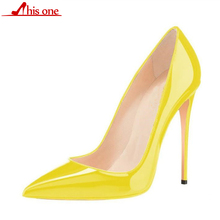 2019 Women Shoes Thin High Heel Stilettos Pointed Toe Patent Leather Shoes 4.7 inch Plus Big Size 35-47 Wedding Pumps sexy patent leather extreme high heel shoes for women big size 44 45 46 49 buckle strap pumps red stilettos for party wedding