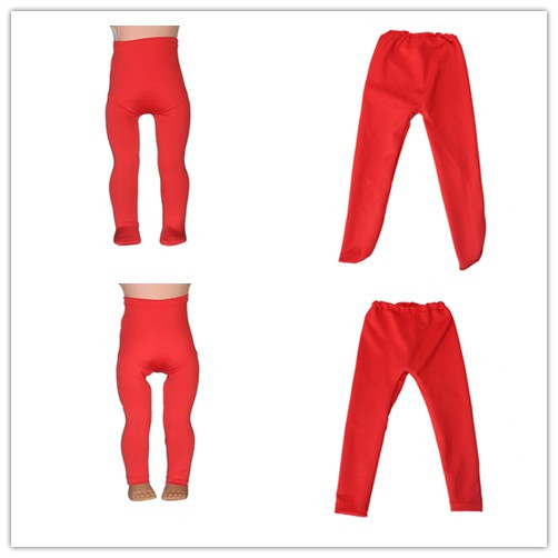 2 Kinds Red Leggings Tight Pants Fit 18 Inches American Girl Doll Baby Doll Clothes Accessories Handmade Fashion Pants Clothe
