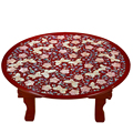 Shell Caving Table Hand-made Classic Water Tea Board Large Tea Foldable Table Chinese Traditional Saucer Drawer Type