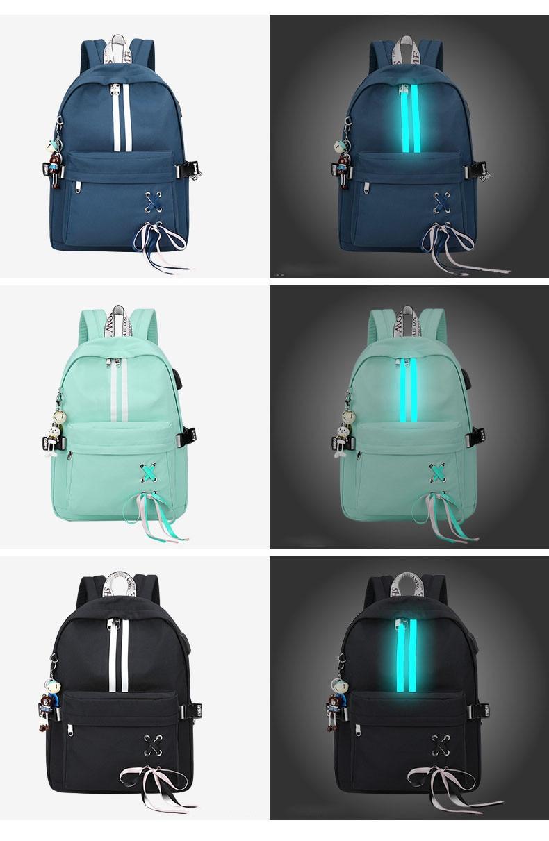 HTB15FoMaPzuK1RjSspeq6ziHVXaA Tourya Fashion Anti Theft Reflective Waterproof Women Backpack USB Charge School Bags For Girls Travel Laptop Rucksack Bookbags