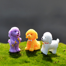 Resin cute puppy/dog/Poodle model home animal figurines Toys miniatures/terrarium mini fairy garden DIY accessories ornaments