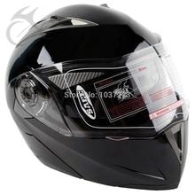 DOT Gloss Black Modular Flip Up Dual Visor Sun Street Motorcycle Helmet