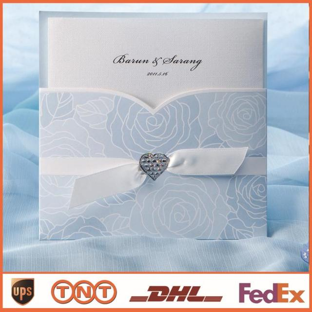 Aliexpresscom Buy Cheap Wedding Invitation Card Light Blue With