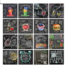 Full Square Drill 5D DIY Diamond Painting Blackboard text 3D Embroidery Cross Stitch  Home Decor Gift