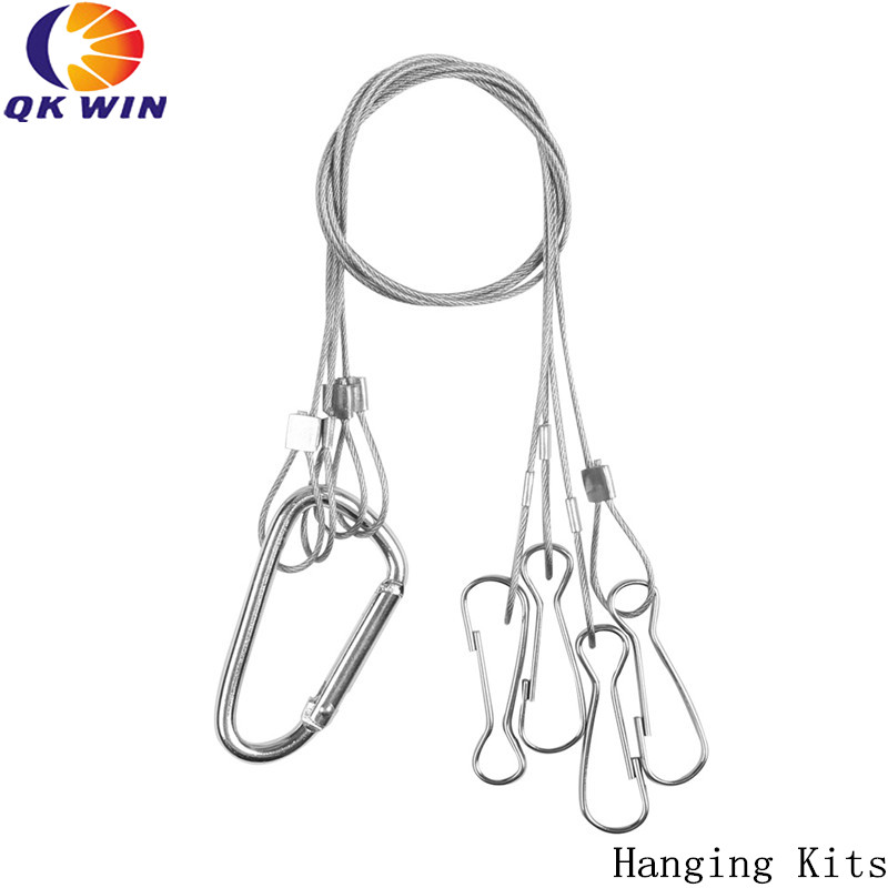 6PCS Light Suspension Kit Stainless Steel Hang Rope Hook Galvanized Steel Cable Hanging Lights Grow Light Fixtures 10kg/22lbs