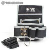 1 Stuk Multifunctionele Tool Bag voor Elektricien Tool Riem met Verstelbare Taille Riem Hamer Haak Gereedschap Houder