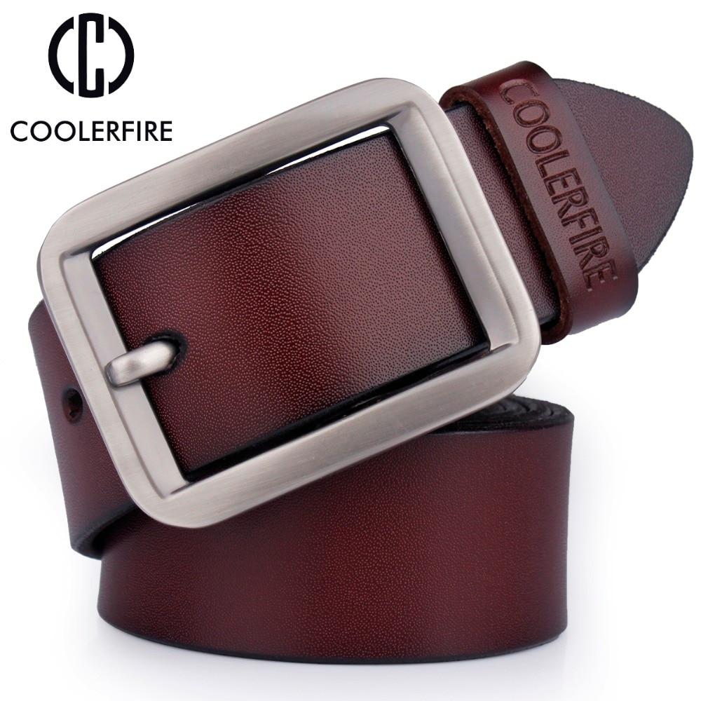 Nyaste mänrem 100% äkta läderbälte för män Högkvalitativ mode designer lyxig äkta läderrem Male HQ025