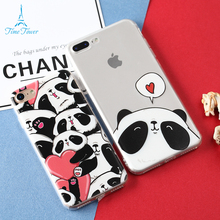 Time Tower China Cute Panda Coque For Apple IPhone 6S Case Silicone Soft TPU Animation Phone