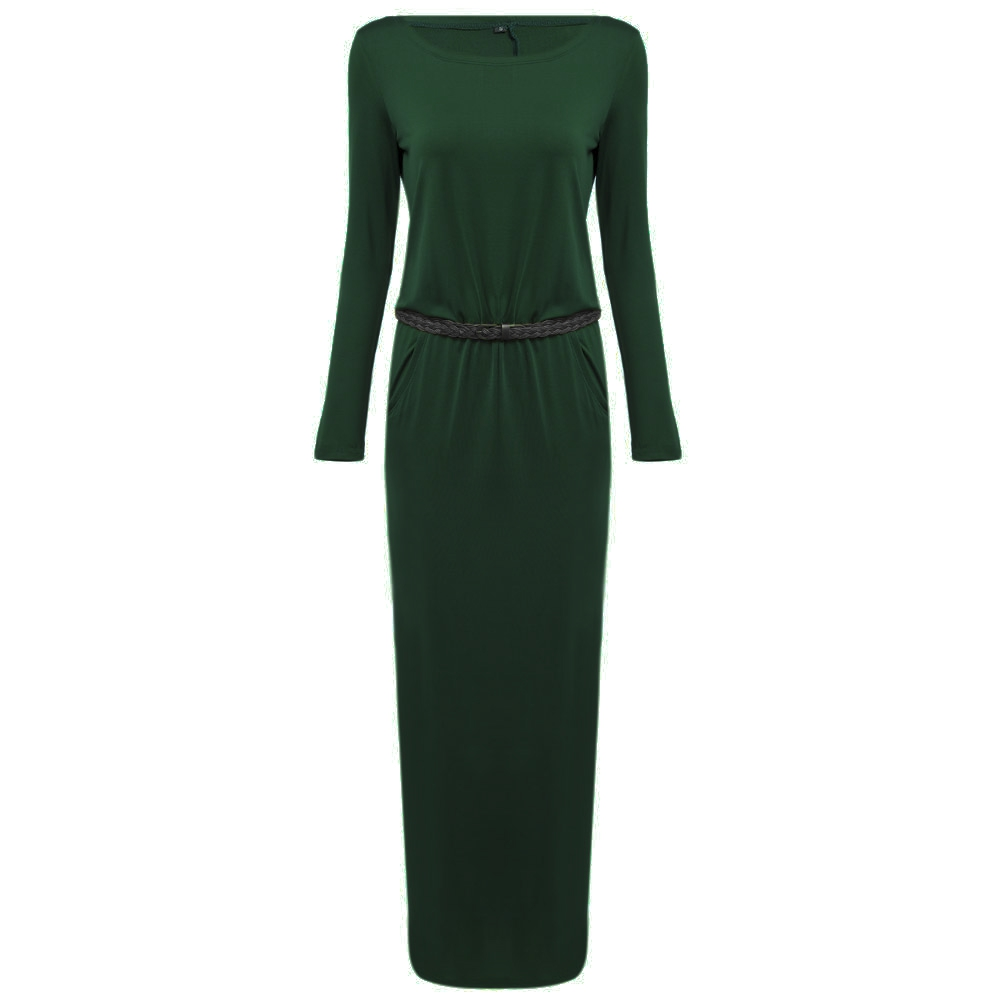 VESTLINDA Vintage Vestidos Longo Jurken Women Maxi Dress Full Sleeve Casual Dress Autumn A Line Solid Ropa Mujer Long Dress 2