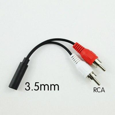 3.5 ミリメートル、 Y アダプターオーディオステレオメスジャック 2 RCA オスアダプタ白赤