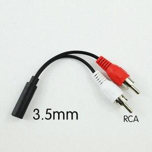 Image 1 - محول ذكر 3.5 مللي متر Y كابل صوت ستيريو أنثى إلى 2 محول RCA ذكر أبيض وأحمر